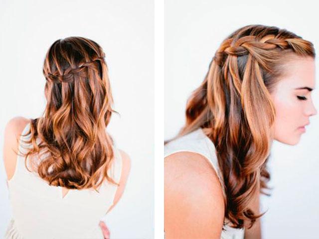 Как сделать праздничную причёску на средние волосы