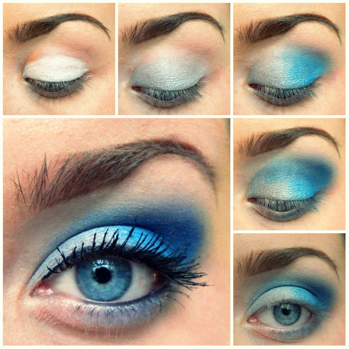 Макияж для голубыз глаз