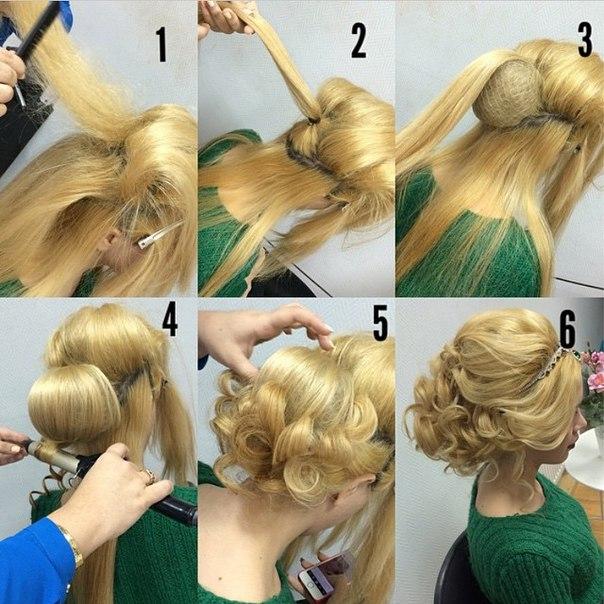 Прически на средние волосы на свадьбу своими руками 44