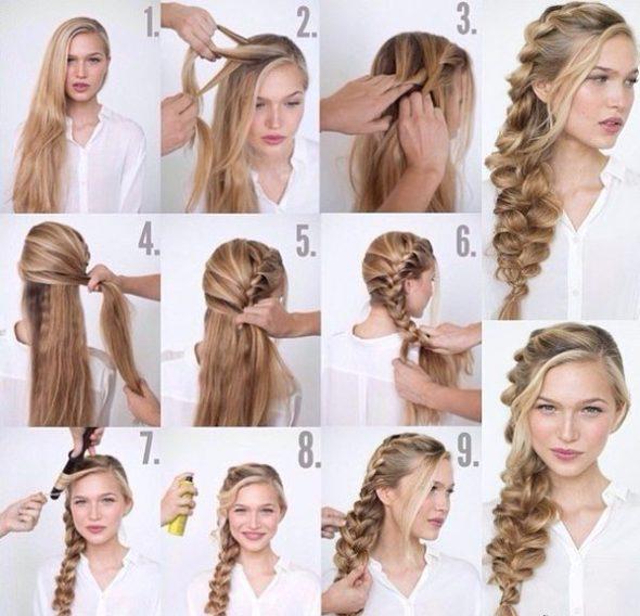 Einfache Frisuren Für Jeden Tag Langes Haar Schnelle Frisuren Für
